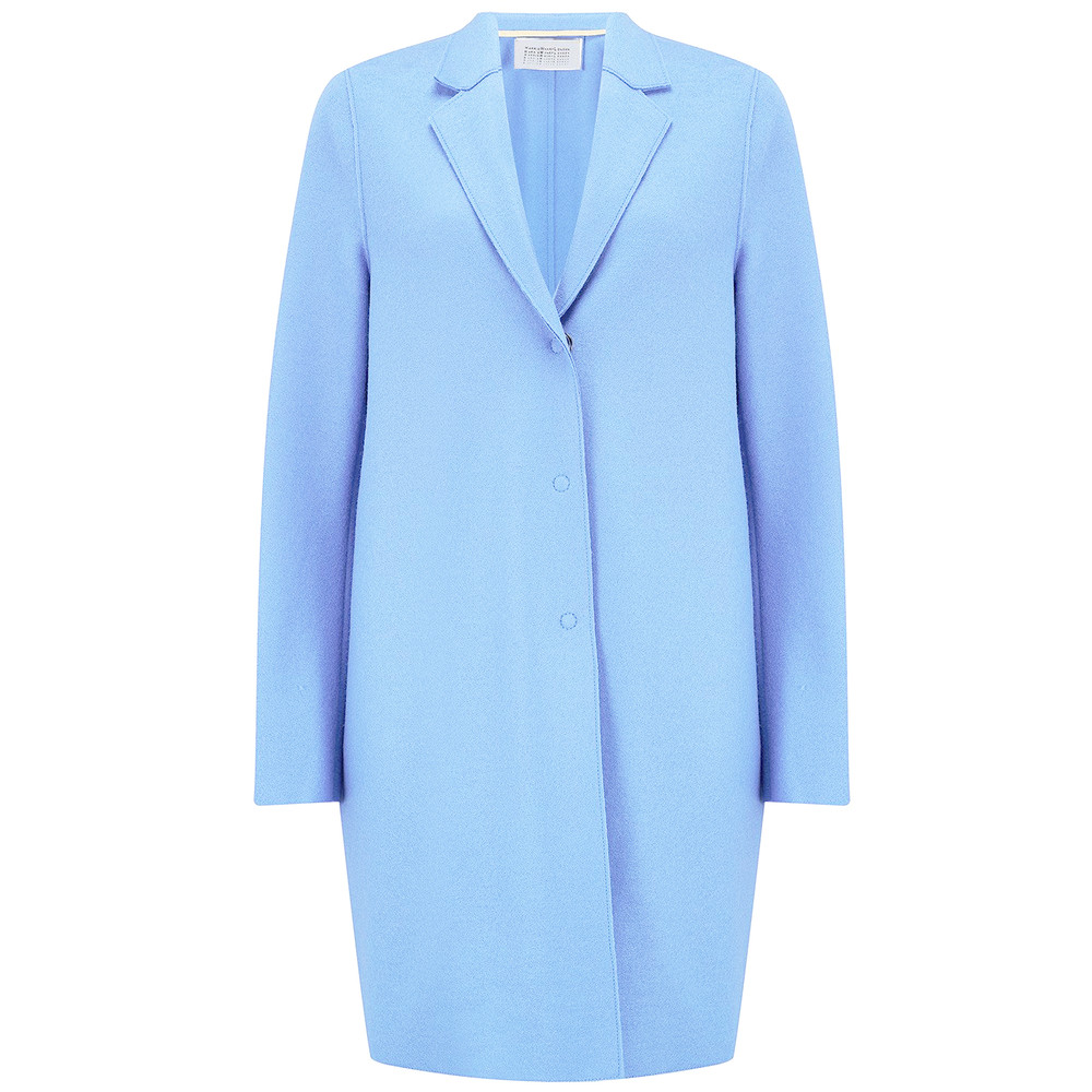 Cocoon Wool Coat - Baby Blue