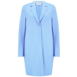 Cocoon Wool Coat - Baby Blue