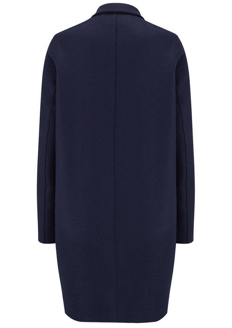 HARRIS WHARF Cocoon Wool Coat - Navy main image