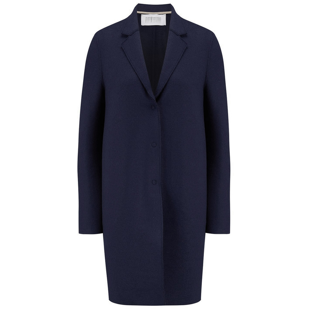 Cocoon Wool Coat - Navy