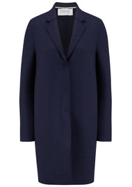HARRIS WHARF Cocoon Wool Coat - Navy