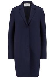 HARRIS WHARF Cocoon Wool Coat - Navy