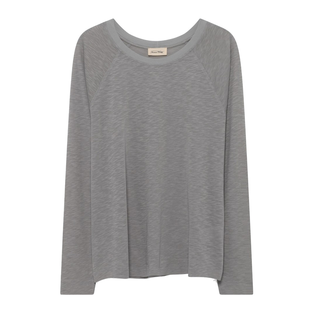 Lorkford Long Sleeve Cotton Tee - Grey