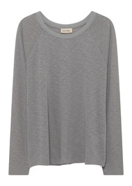 American Vintage Lorkford Long Sleeve Cotton Tee - Grey