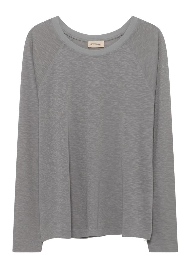 American Vintage Lorkford Long Sleeve Cotton Tee - Grey main image