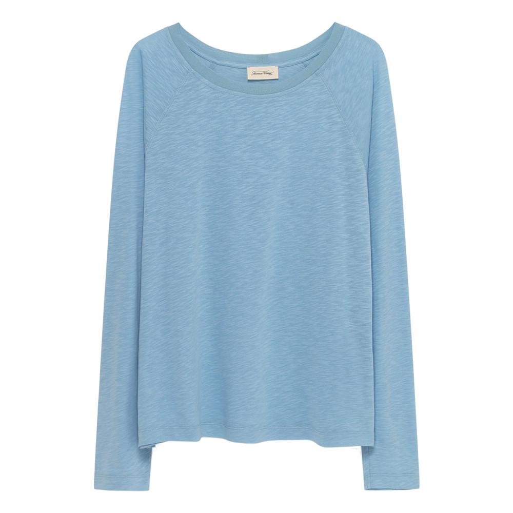Lorkford Long Sleeve Cotton Tee - Sky