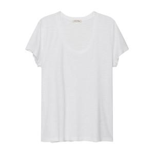 Jacksonville U Neck Short Sleeve Tee - White