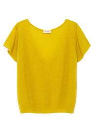 American Vintage Ugoball Short Sleeve Jumper - Blondie Melange