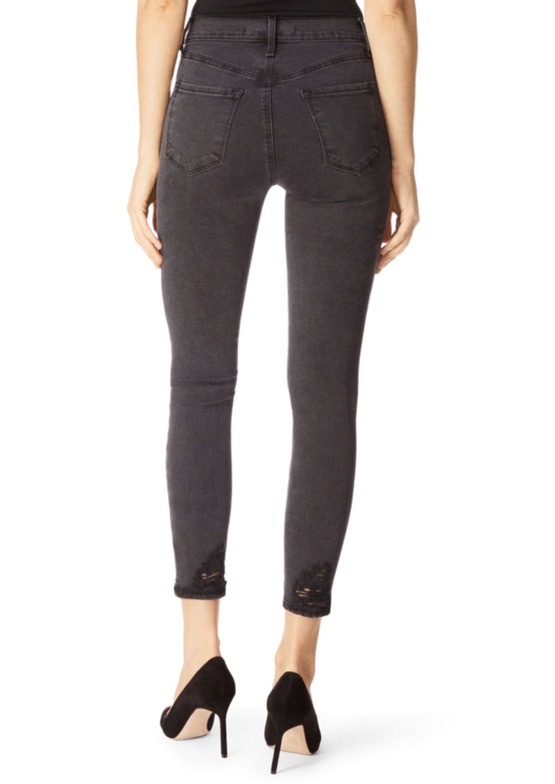 J Brand Alana High Rise Cropped Skinny Photo Ready Jeans - Bellatrix Destruct main image
