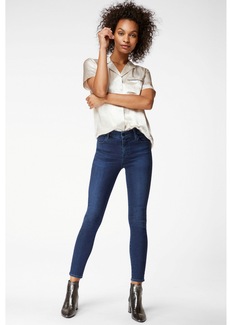J Brand Alana High Rise Cropped Skinny Photo Ready Jeans - Phased main image