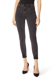 J Brand Alana High Rise Cropped Skinny Photo Ready Jeans - Bellatrix Destruct