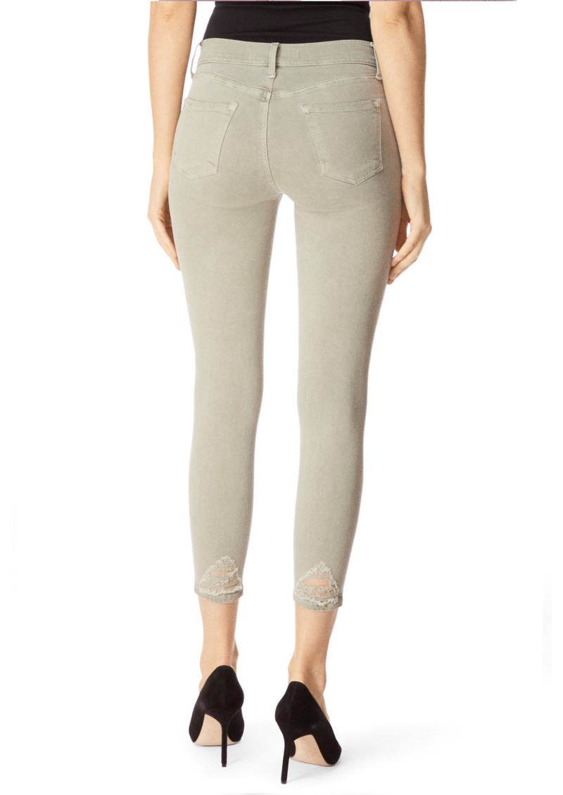 J Brand 835 Mid Rise Cropped Photo Ready Skinny - Faded Gibson Destruct main image