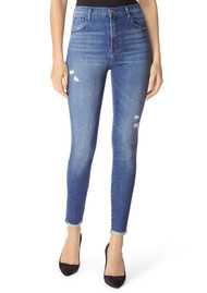 J Brand Leenah Super High Rise Ankle Skinny Jeans - Moonless