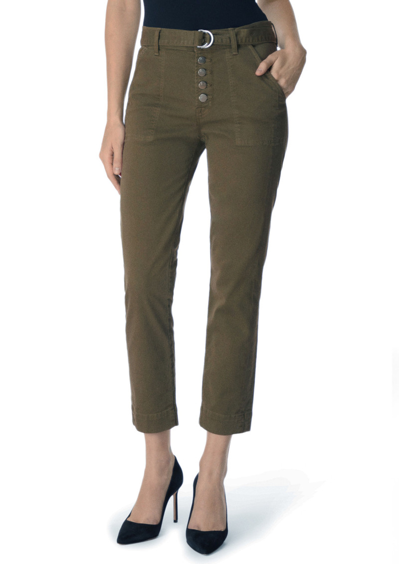 J Brand Kyrah High Rise Cropped Cigarette Pant - Dystopia main image