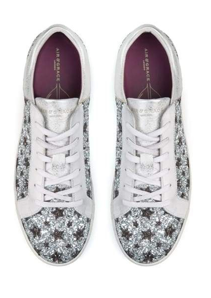 AIR & GRACE Cru Trainers - Star Glitter main image