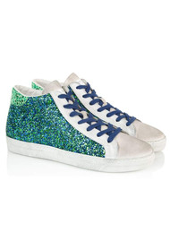 AIR & GRACE Alto Trainers - Blue & Green Glitter