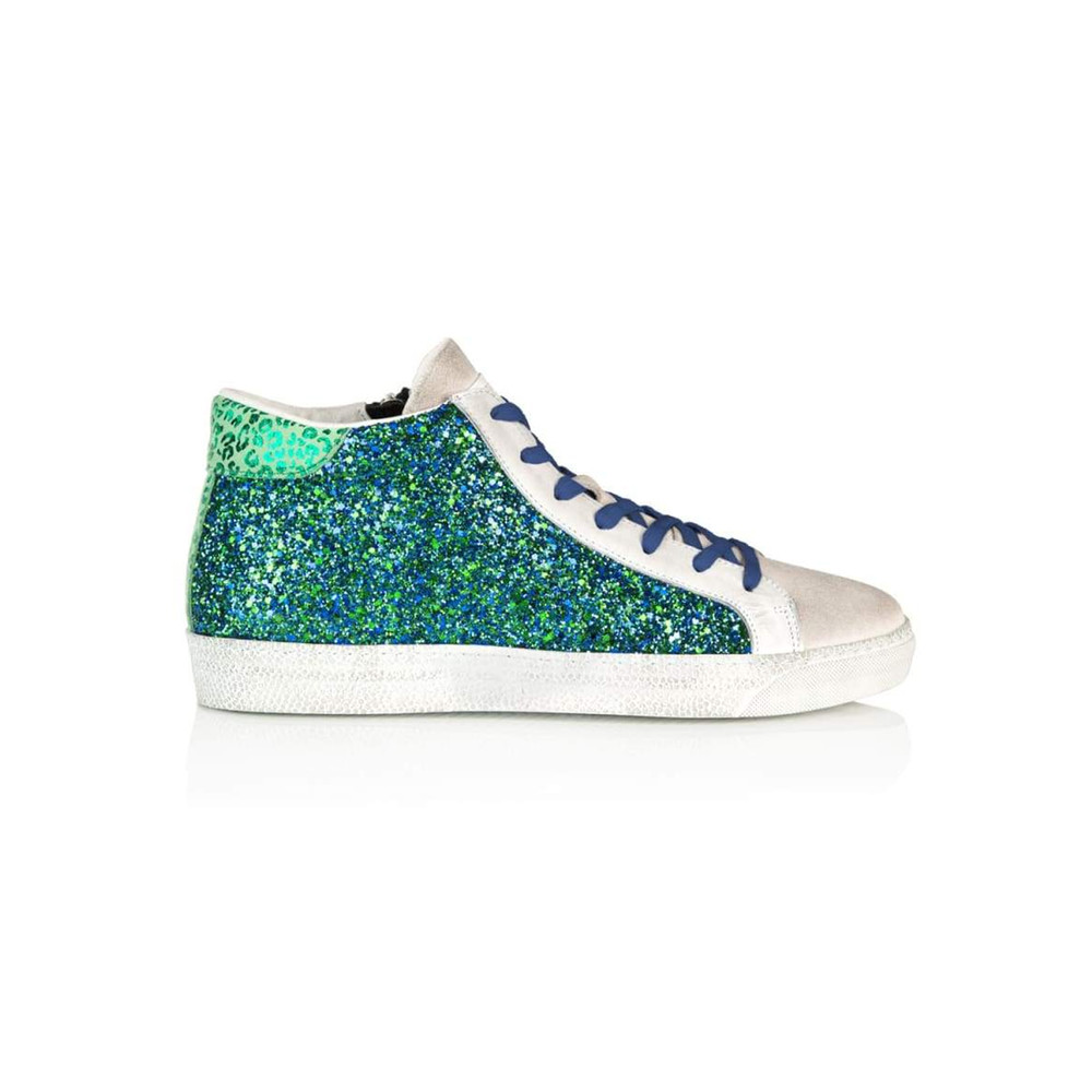 Alto Trainers - Blue & Green Glitter