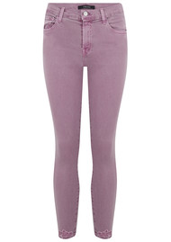 J Brand 835 Mid Rise Cropped Photo Ready Skinny - Lilac Destruct
