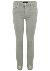 J Brand 835 Mid Rise Cropped Photo Ready Skinny - Faded Gibson Destruct