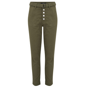 Kyrah High Rise Cropped Cigarette Pant - Dystopia