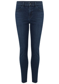 J Brand Alana High Rise Cropped Skinny Photo Ready Jeans - Phased
