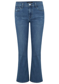 J Brand Selena Mid Rise Cropped Boot Cut Jeans - Polaris Destruct
