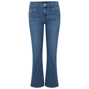 Selena Mid Rise Cropped Boot Cut Jeans - Polaris Destruct