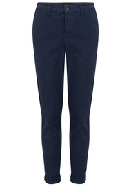 J Brand Josie Mid Rise Tapered Skinny Trousers - Rugby Blue