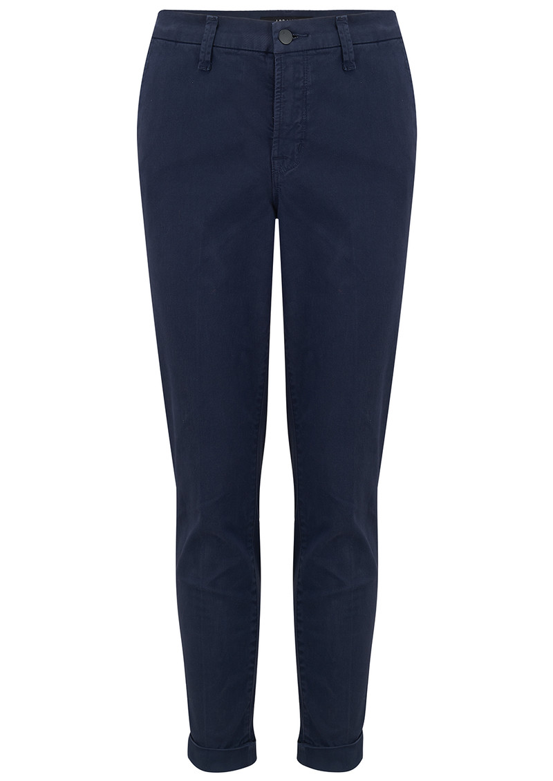 J Brand Josie Mid Rise Tapered Skinny Trousers - Rugby Blue main image