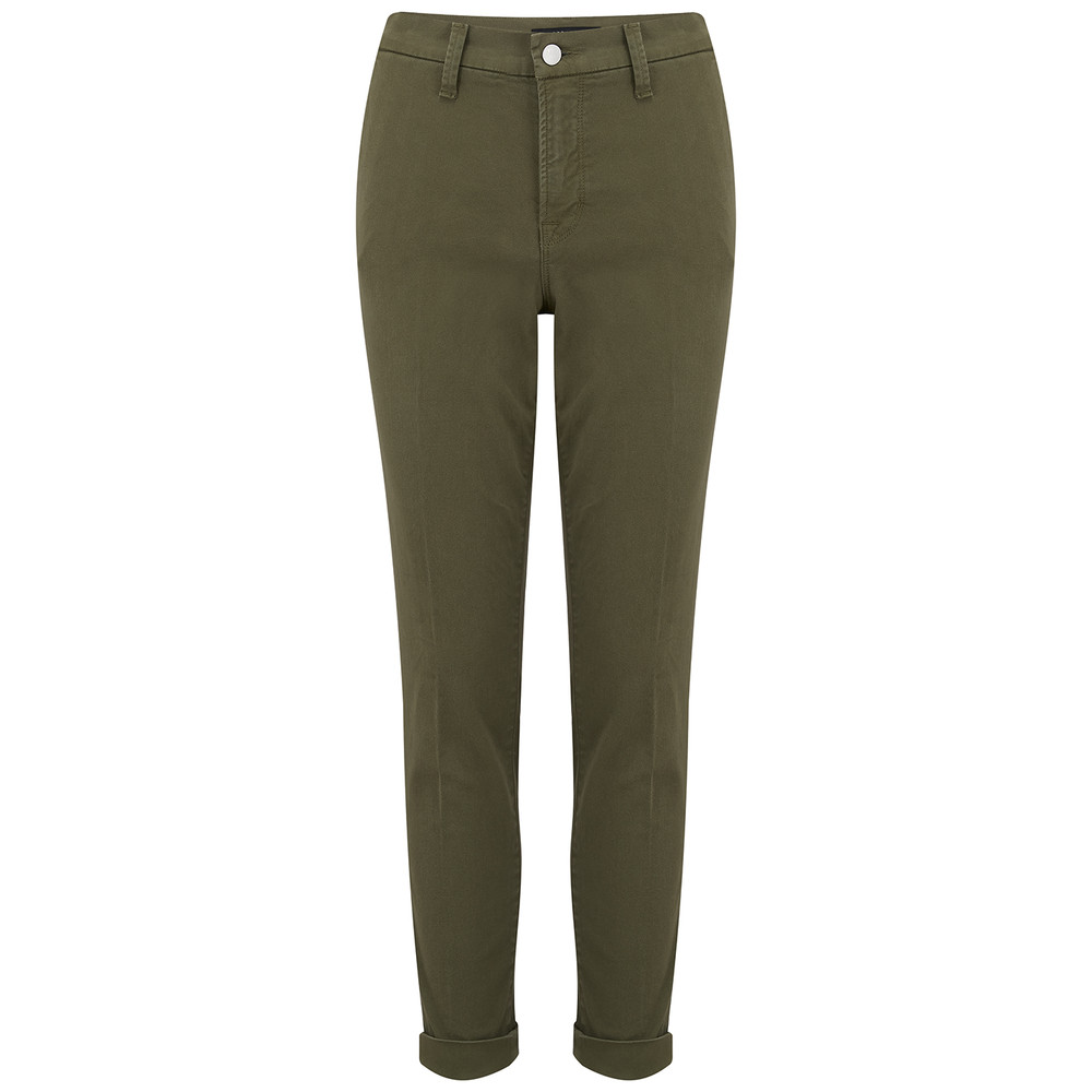 Josie Mid Rise Tapered Skinny Trousers - Dystopia