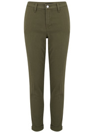 J Brand Josie Mid Rise Tapered Skinny Trousers - Dystopia