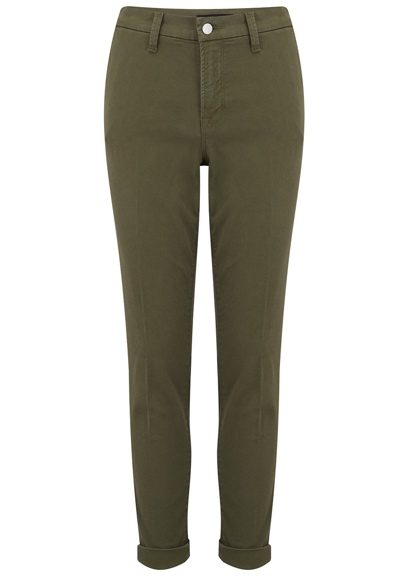 J Brand Josie Mid Rise Tapered Skinny Trousers - Dystopia main image