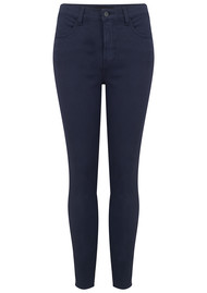 J Brand Alana High Rise Cropped Super Skinny Jeans - Rugby Blue