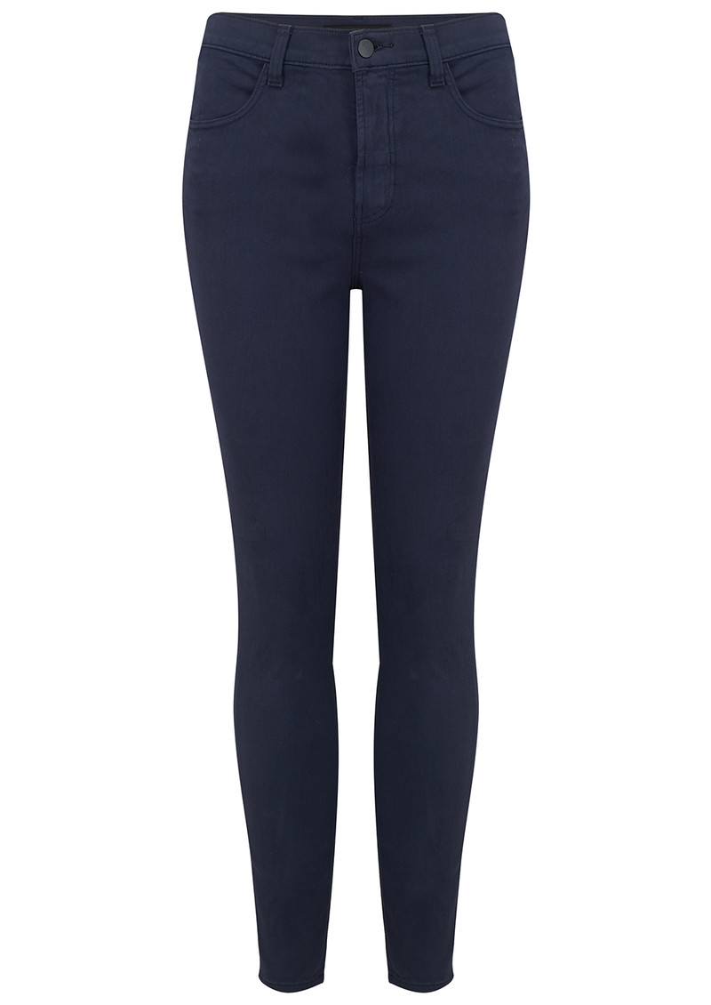 J Brand Alana High Rise Cropped Super Skinny Jeans - Rugby Blue main image