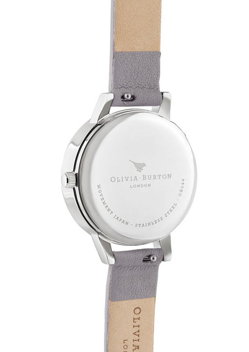 Olivia Burton 3D Bee Midi Dial Watch - Grey Lilac, Rose Gold & Silver main image