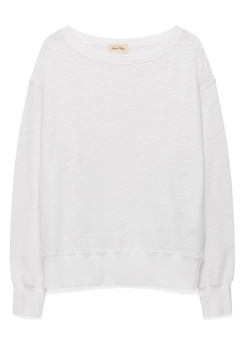 American Vintage Sonoma Long Sleeve Sweatshirt - White main image
