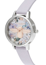 Olivia Burton Bejewelled Florals Midi 3D Bee Watch - Parma Violet, Rose Gold & Silver