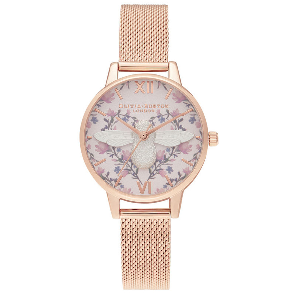 Meant To Bee Midi Dial Watch - Silver & Rose Gold