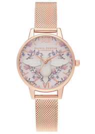 Olivia Burton Meant To Bee Midi Dial Watch - Silver & Rose Gold