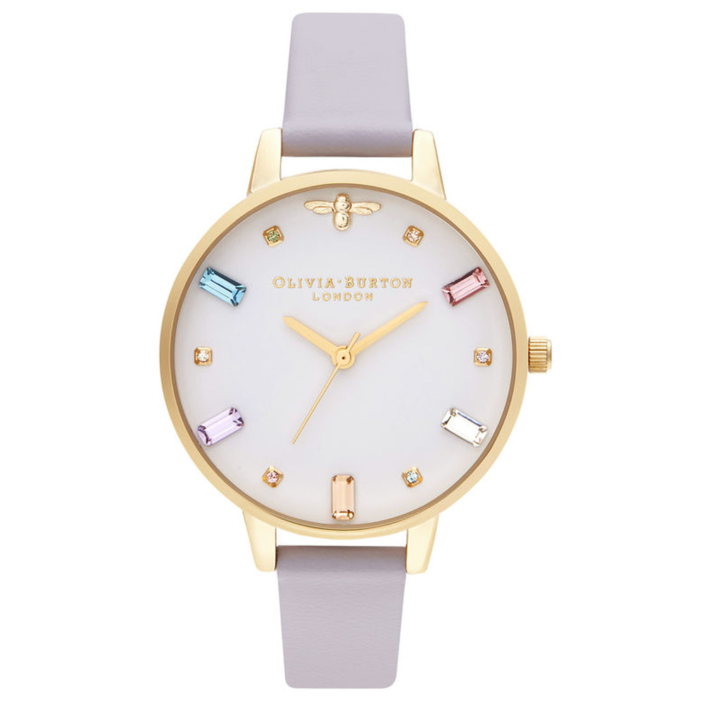 Rainbow Bee Demi Dial Watch - Parma Violet & Gold