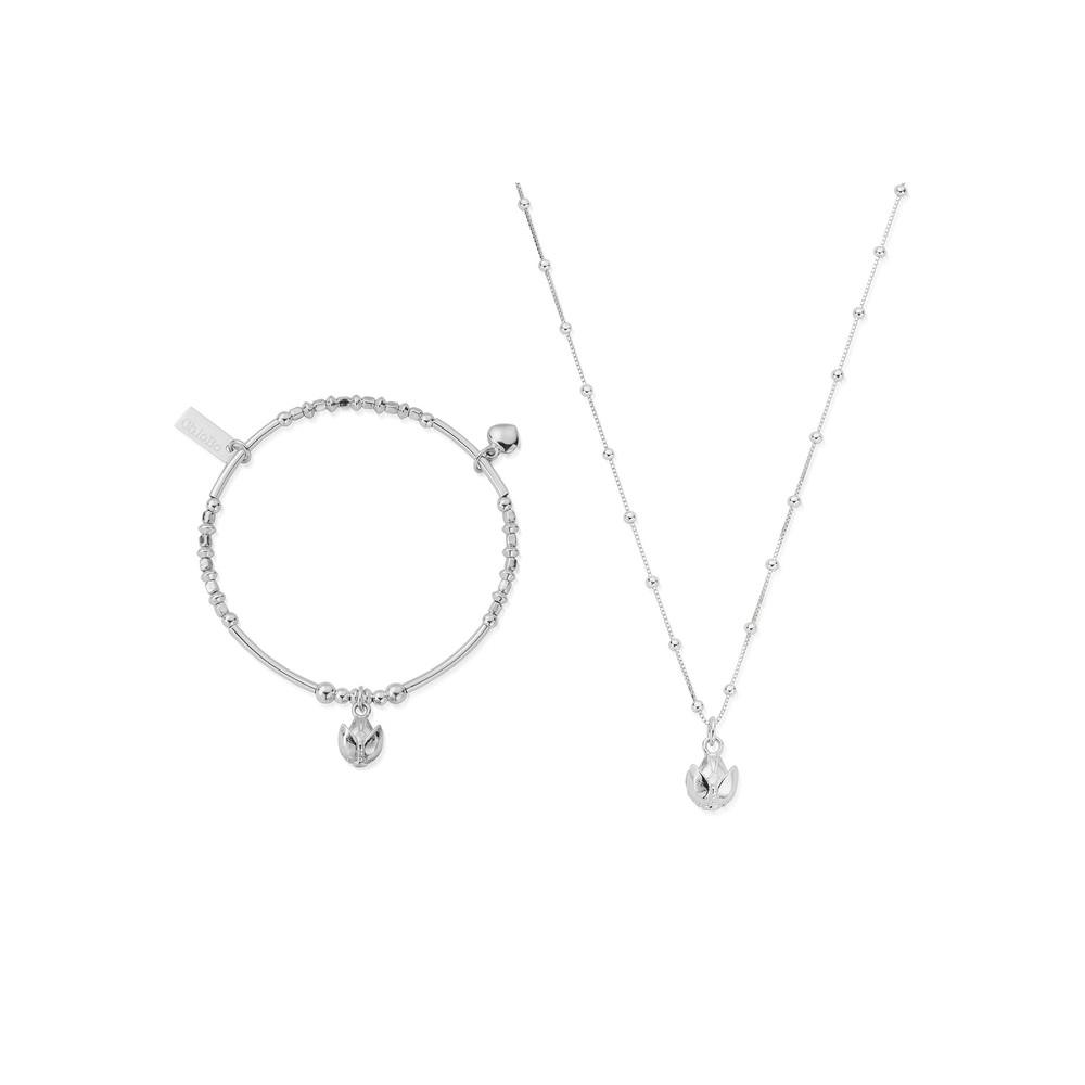 Beautiful Soul Bracelet & Necklace Set - Silver