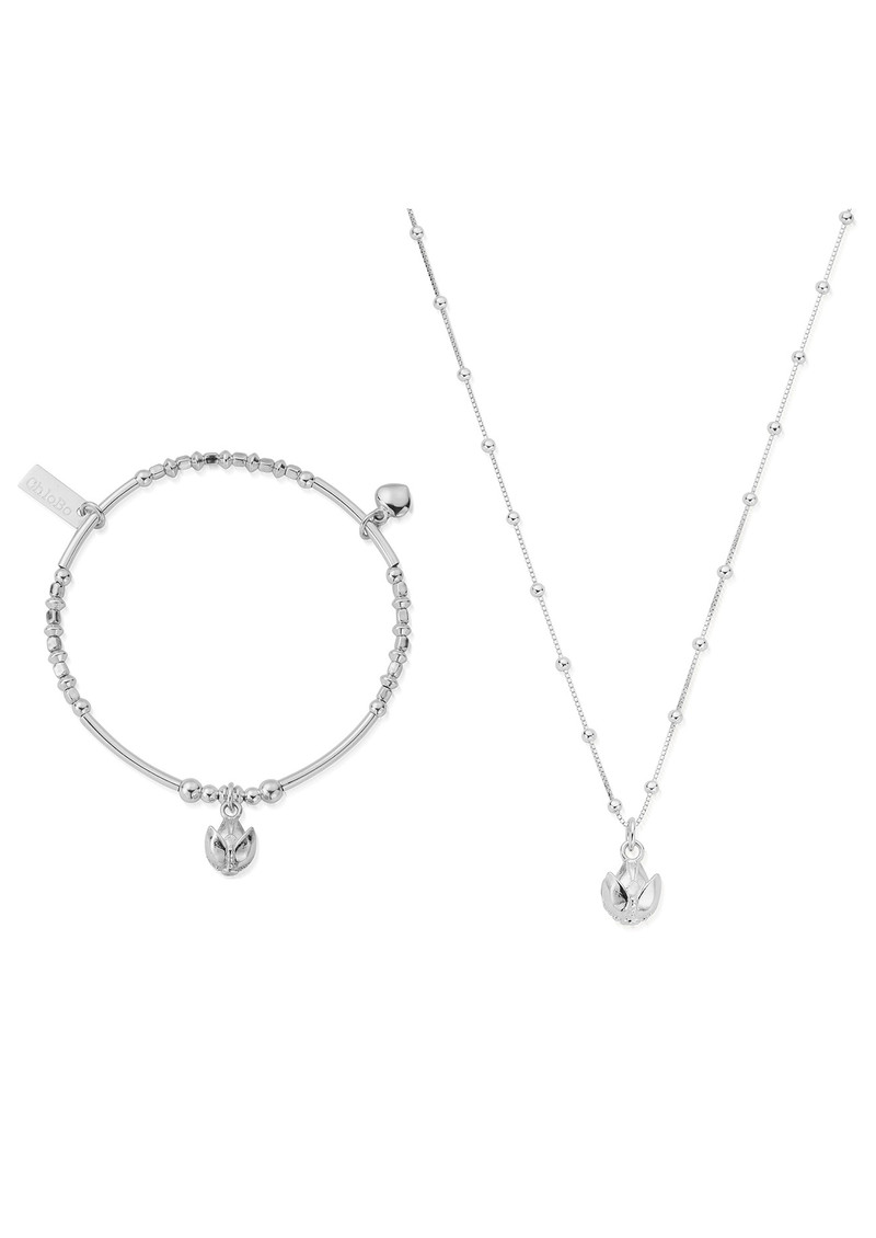 ChloBo Beautiful Soul Bracelet & Necklace Set - Silver main image