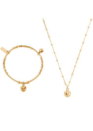 ChloBo Beautiful Soul Bracelet & Necklace Set - Gold
