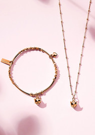 ChloBo Beautiful Soul Bracelet & Necklace Set - Rose Gold