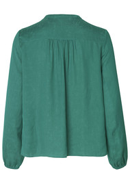 SAMSOE & SAMSOE Elva 10793 Blouse - Quetzal Green