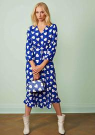 ESSENTIEL ANTWERP Seamus Heart Dress - Cobalt Blue