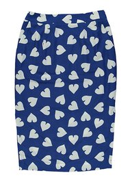 ESSENTIEL ANTWERP Sylis Fitted Heart Skirt - Cobalt Blue