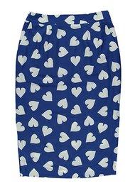 ESSENTIEL ANTWERP Sylis Fitted Heart Skirt - Cobalt Blue