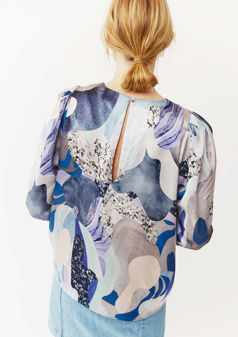 Twist and Tango Allison Blouse - Blue Marble main image