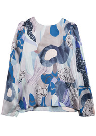Twist and Tango Allison Blouse - Blue Marble